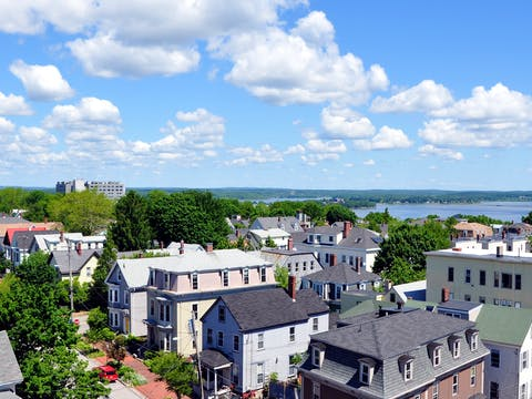 Portland Maine from Portland Observatory Looking North East