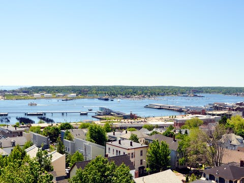Portland Maine from Observatory Looking South