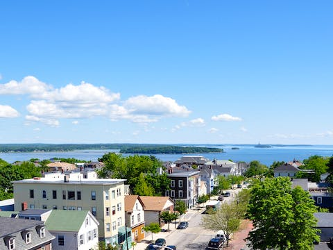 Portland Maine from the Portland Observatory Looking North