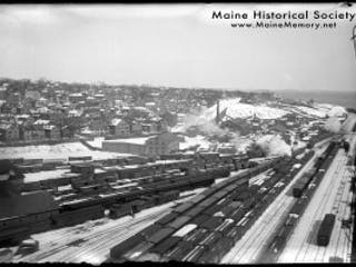 Maine Historical Society Portland Railroad Winter
