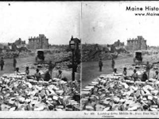 Maine Historical Society Portland 1866 Fire Slide 1