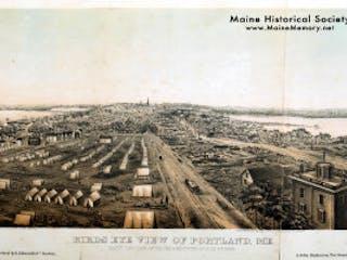 Maine Historical Society Portland 1866 Fire Photo