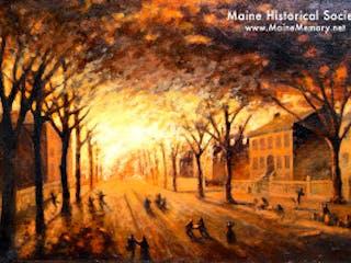 Portland Maine Conflagaration Painting