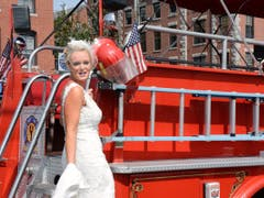 Portland Fire Engine Co. and the Bride.