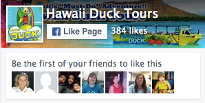 Hawaii Duck Tours Facebook Plugin