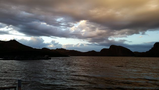 Canyon Lake, AZ at dusk