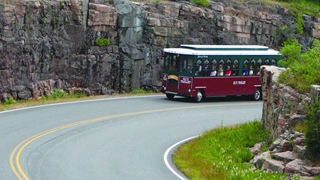 olis trolley on cadillac mountain