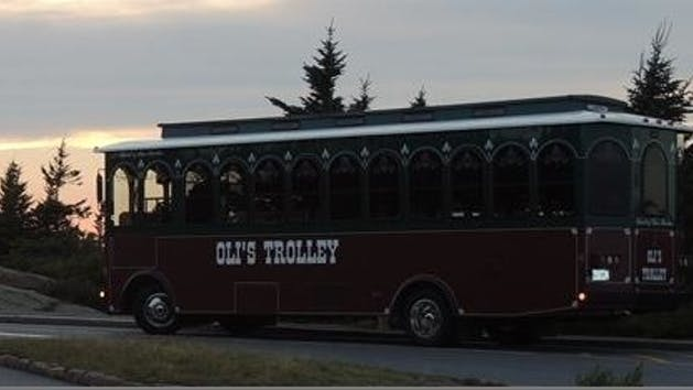 olis trolley at sunset
