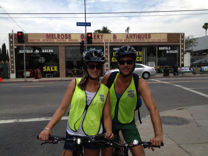 LA Adventure, Hollywood tours, cycling LA