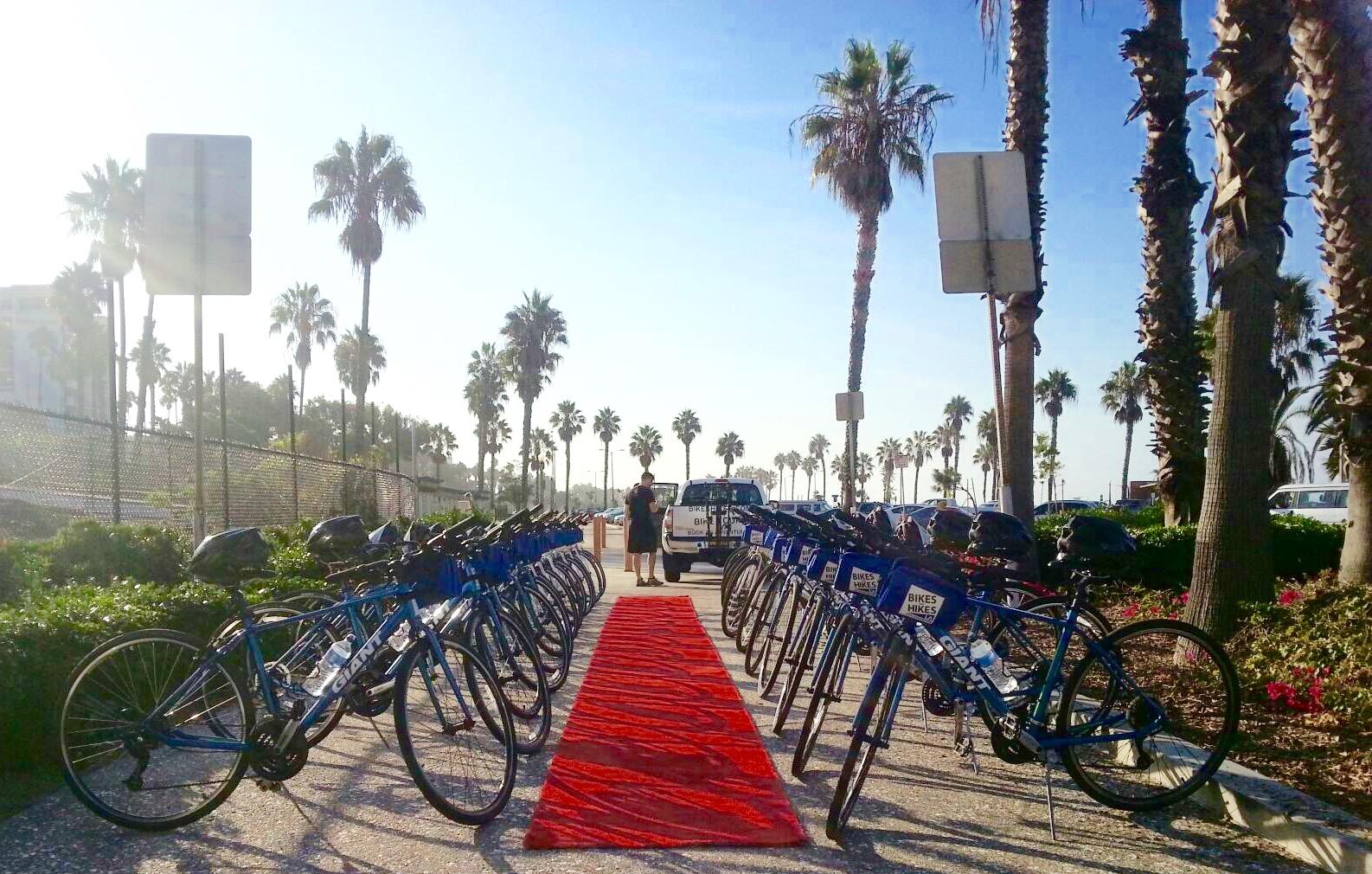 bike staging, bikes and hikes LA