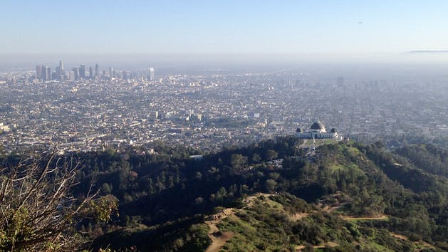 Griffith Park Observatory to Hollywood