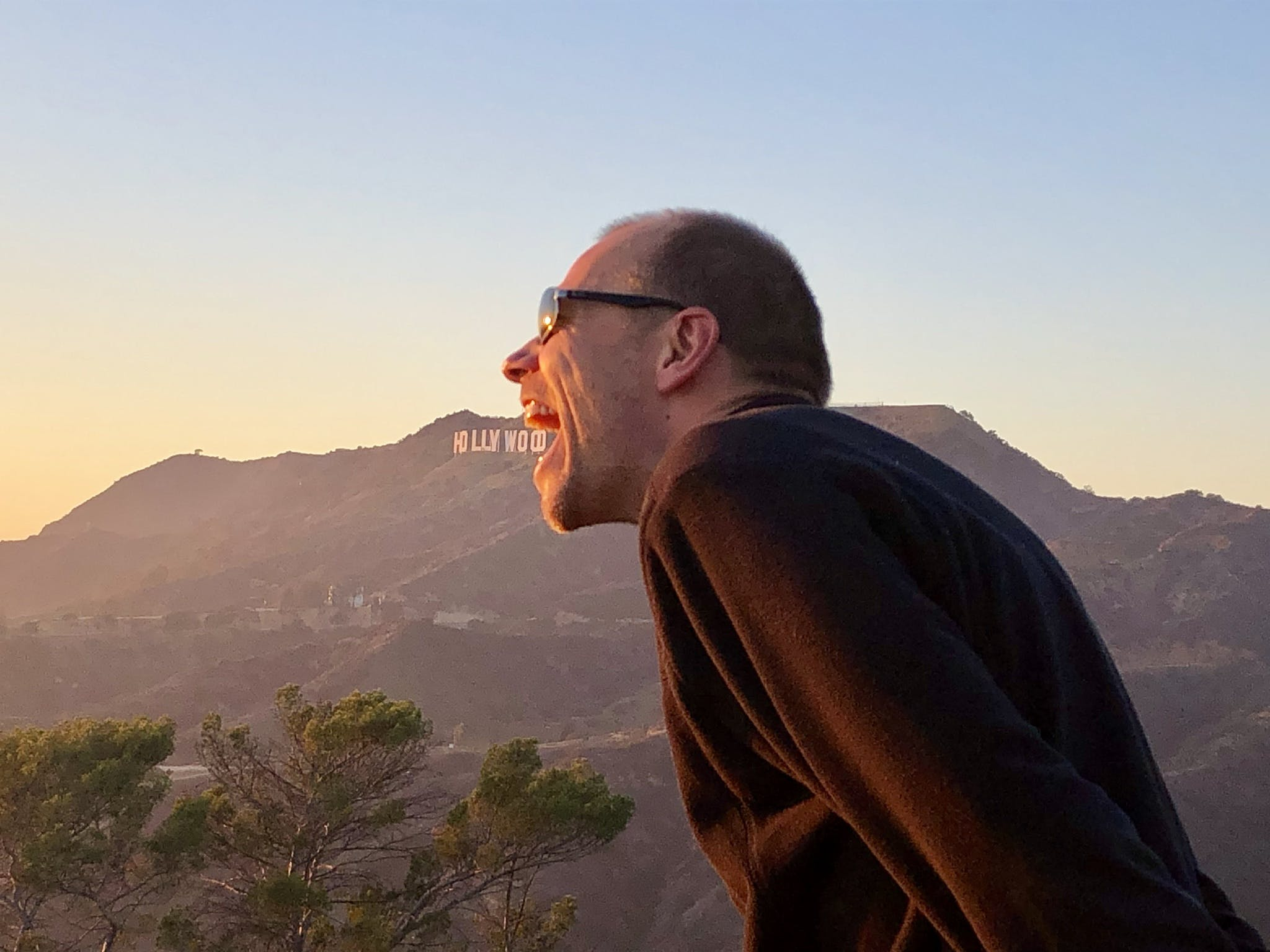 Hollywood Sign Hike, Eating The Hollywood Sign