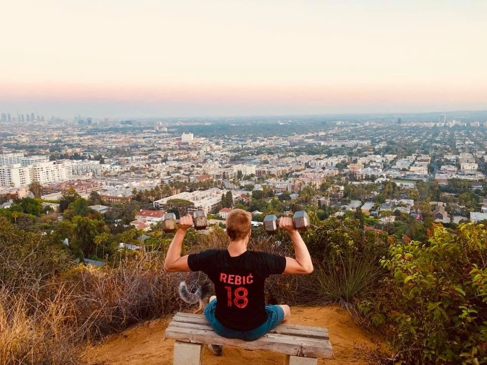 View of West Hollywood and Los Angeles from Runyon Canyon, California