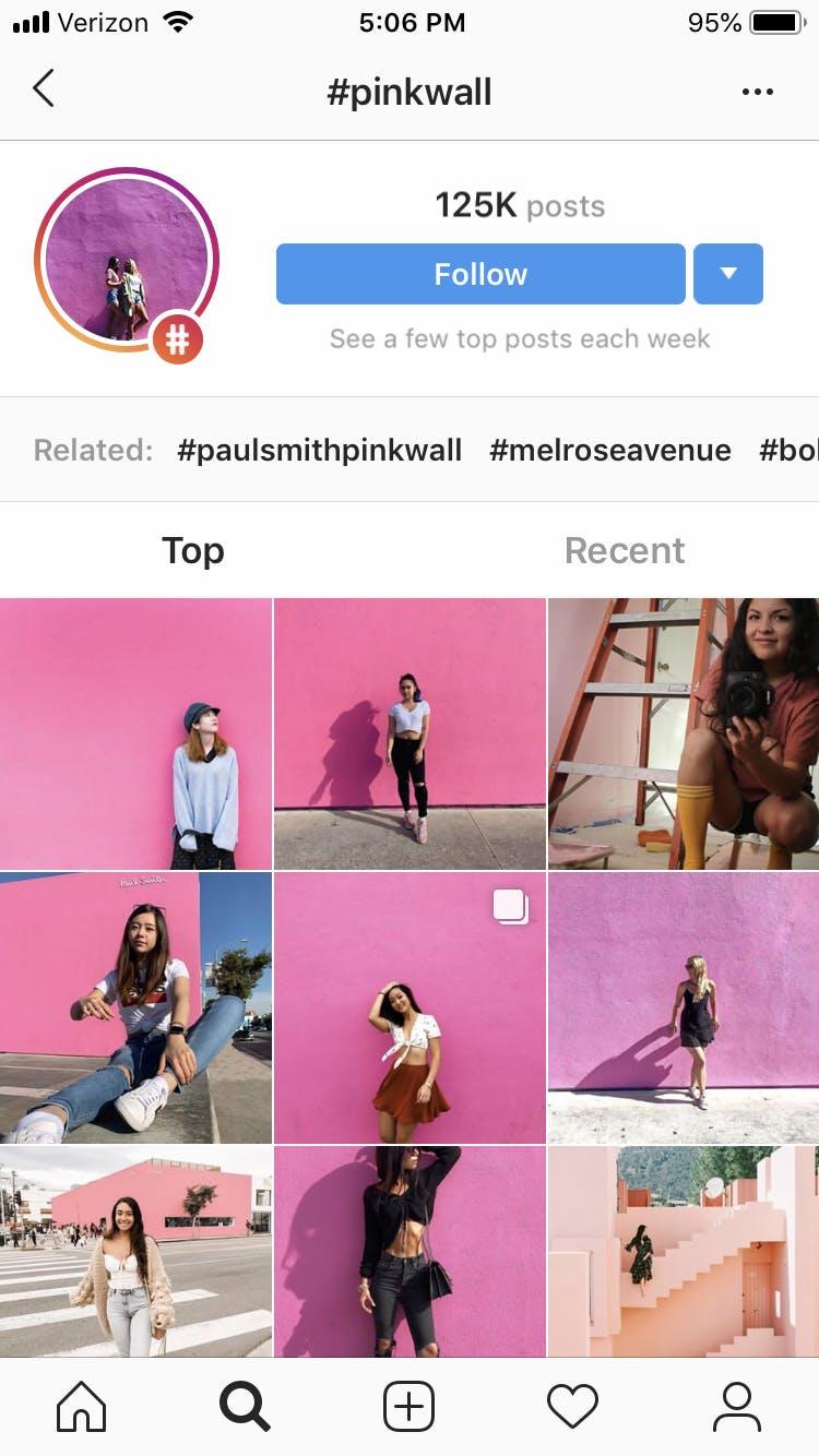 Instagram wall los angeles