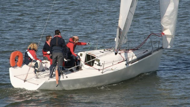 sailboat with crew