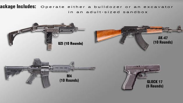 Image of guns included in dig and destroy package