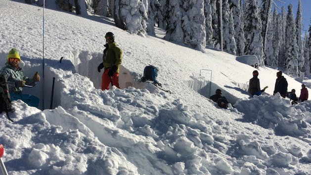 learning how to dig in an avalanche