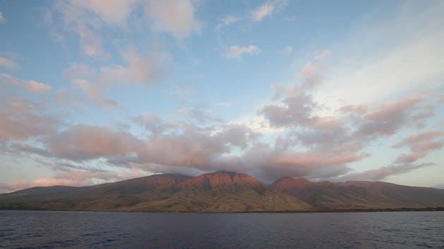 mountain on a Hawaiian island