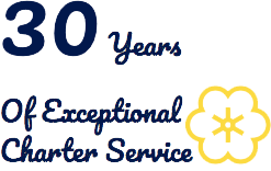 30 years if exceptional charter service