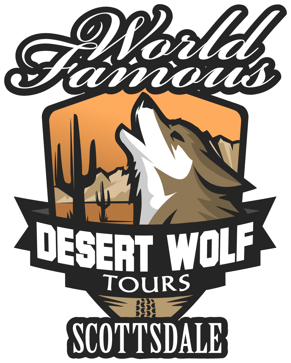 desert wolf tours logo buff colour