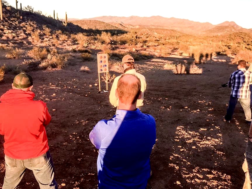 Scottsdale guns, shooting, team building, top shot competition, group adventure