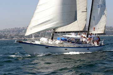 54 foot sailboat for group or private charters