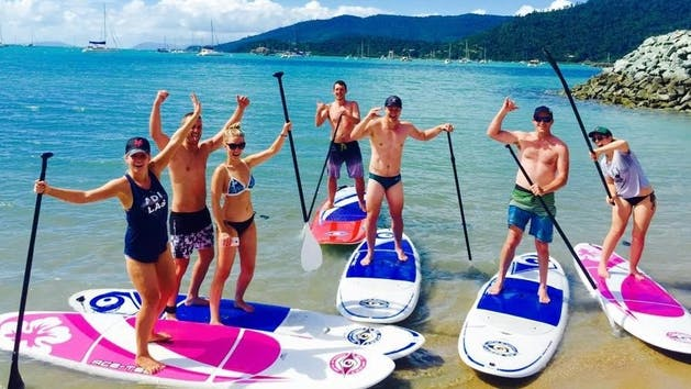 Sup hire at Airlie Beach in the Whitsundays