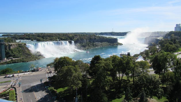 View of the falls as seen from Toronto.
