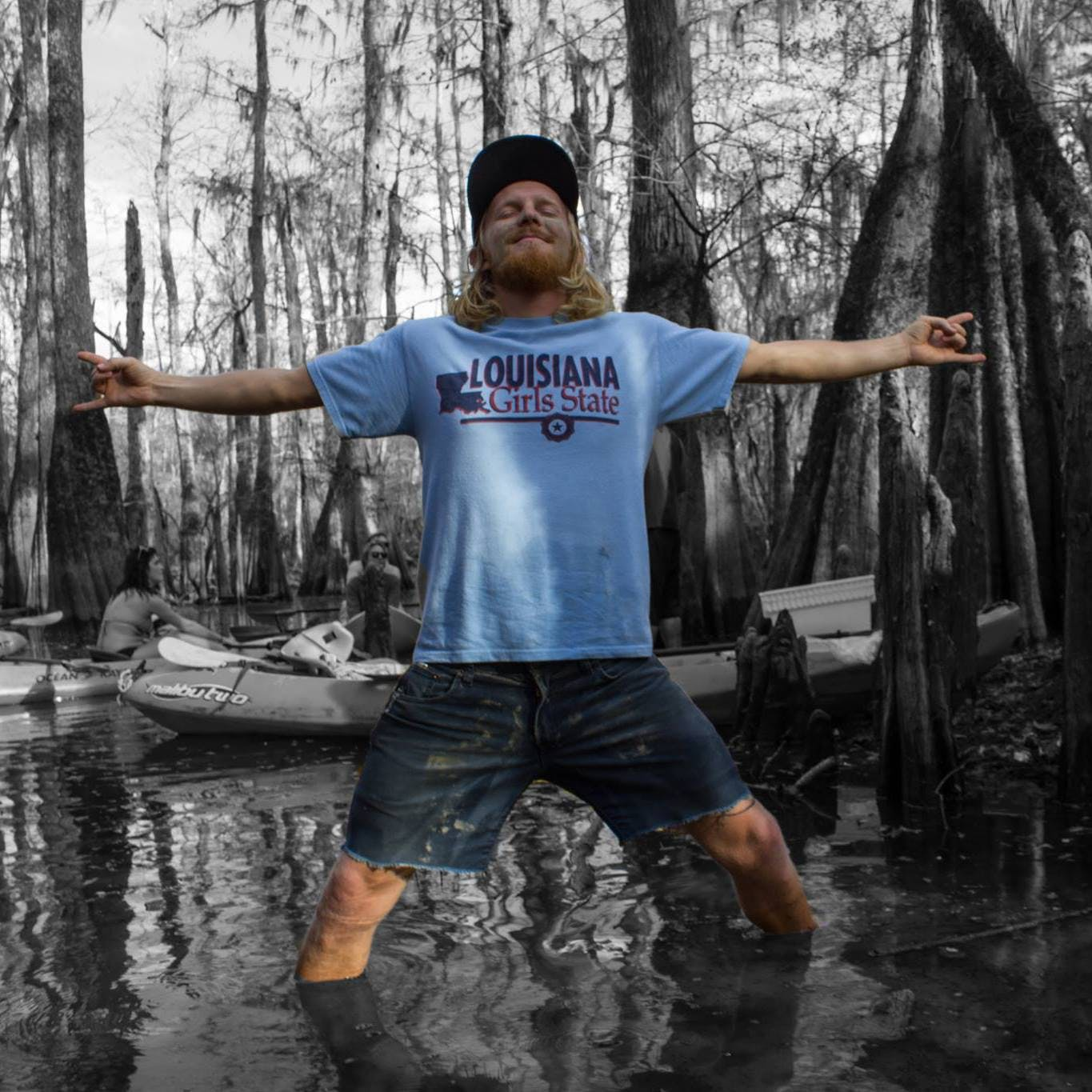Jeff standing in the swamp