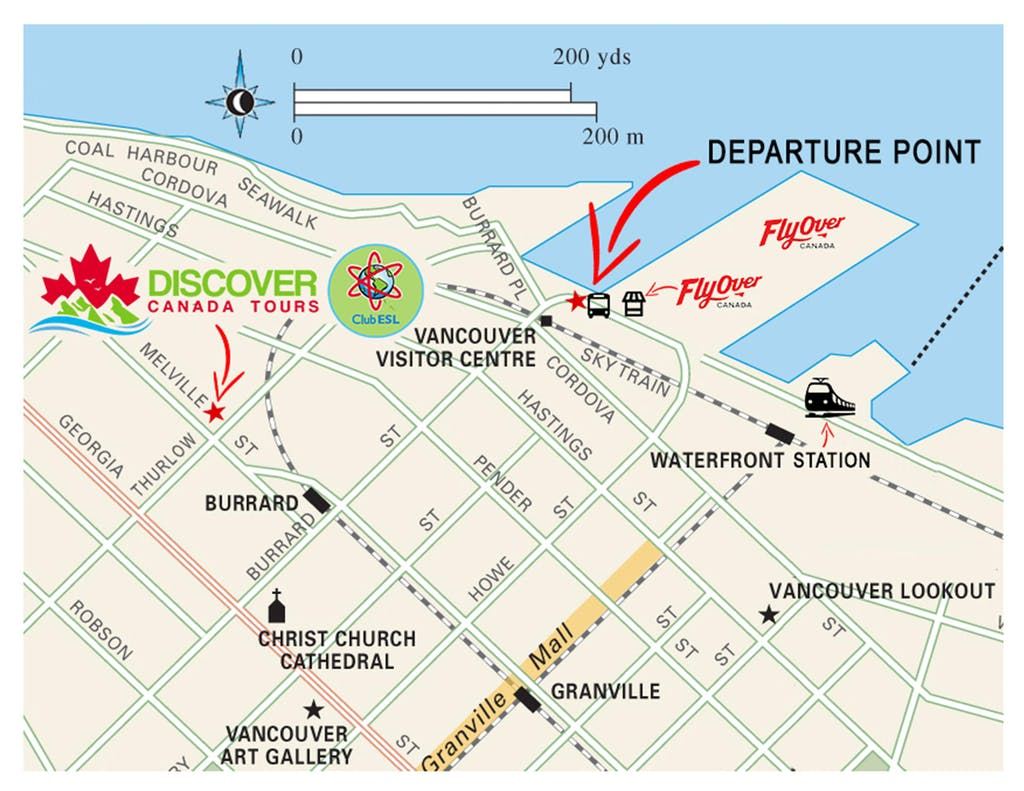 Map Of Canada Line Vancouver.Departure Information Discover Canada Tours