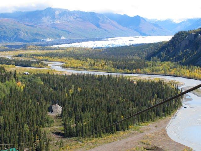 zipline over a valley
