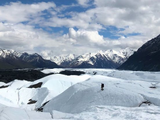 The Vastness of the Matanuska Glacier in Alaska