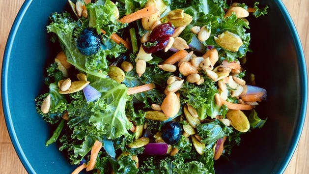 Super food salad for packed lunch