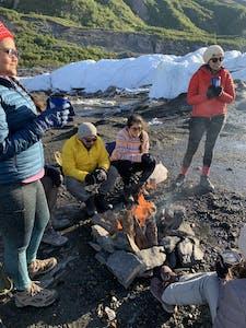 Glacier Camping Fun