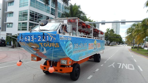 Duck Tours South Beach Boat On The Road