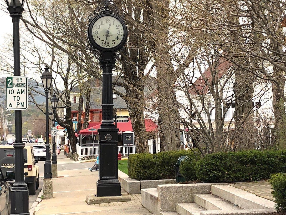 clock in a park