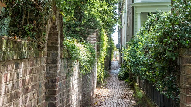 Charleston alleyways and hidden passages