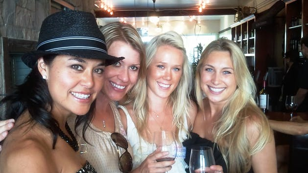 Girlfriends enjoy a winery tour in San Diego