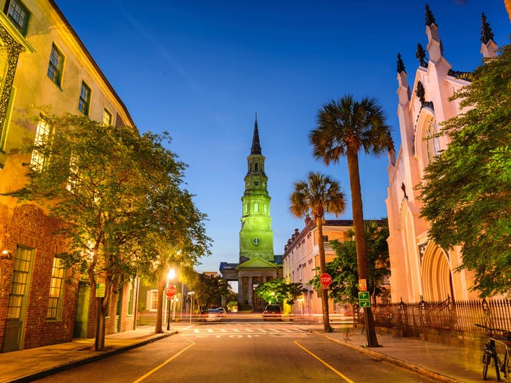 View of Church Street in Charleston