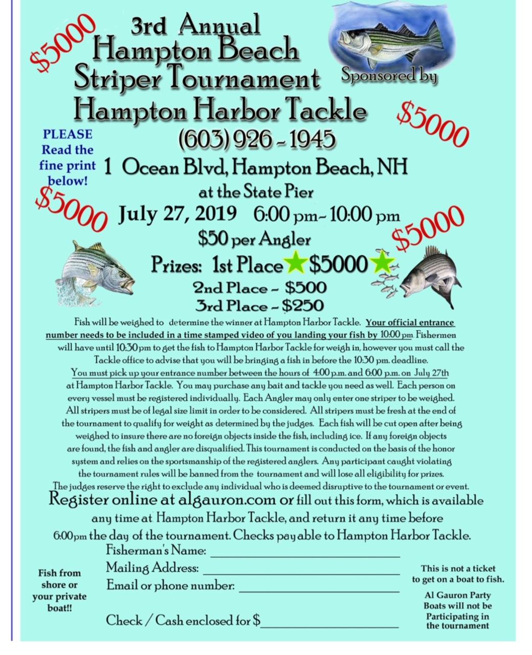 3rd Annual Striper Tournament