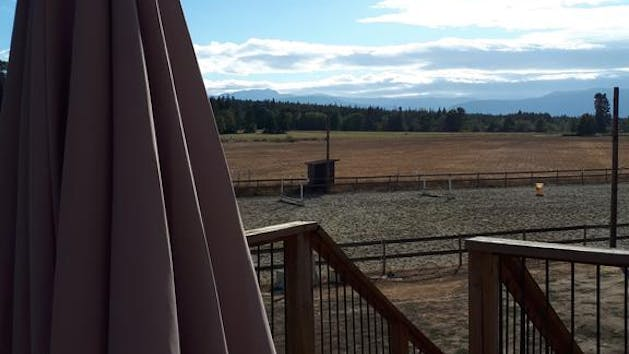 An amazing view of the ranch from the patio