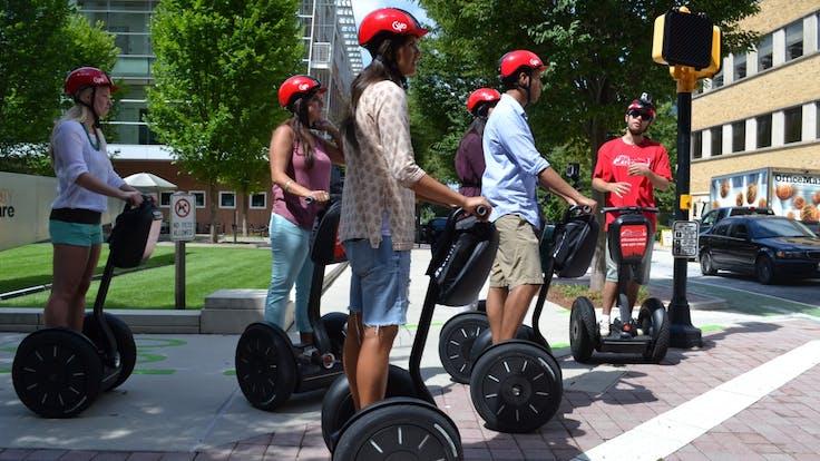 A tour group enjoying their Midtown adventure