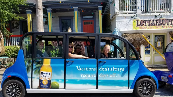 Atlanta Is A City Of Special Events Routes Are Subject To Change During Parades Marathons Or Other Three Groups On An Electric Car Tour