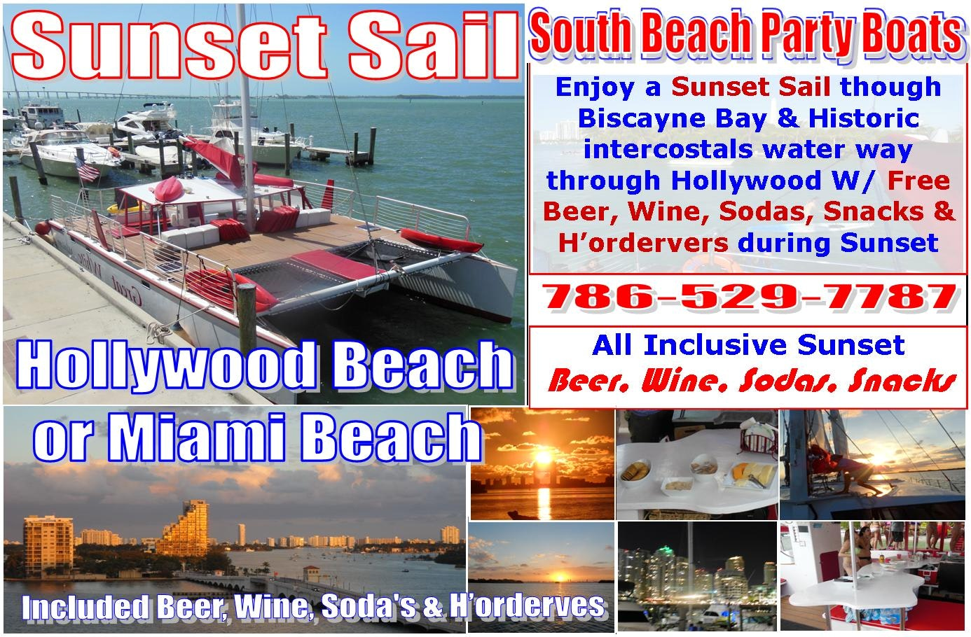 South Beach Party Boats Flyer