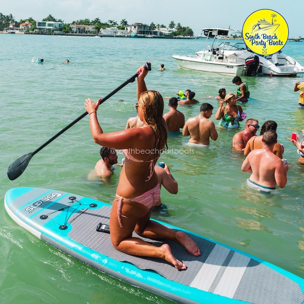paddleboard miami south beach boat party