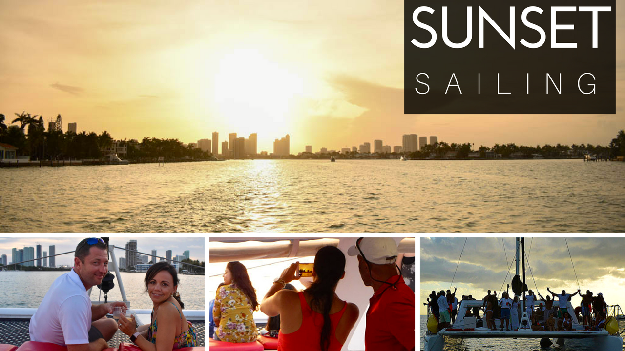 miami sunset boat charter sailing yacht party