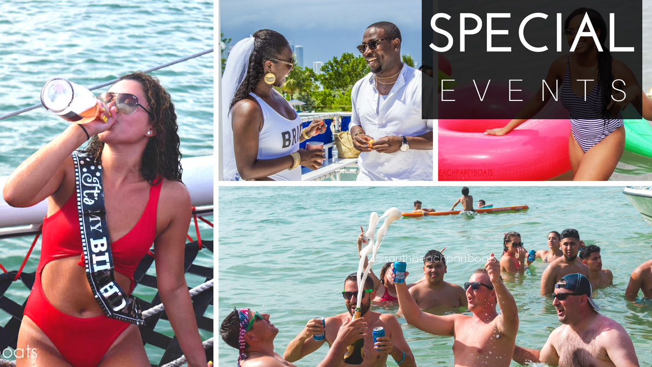 Miami Special Events Wedding Destination Cruise Bachelorette Boat Party Yacht