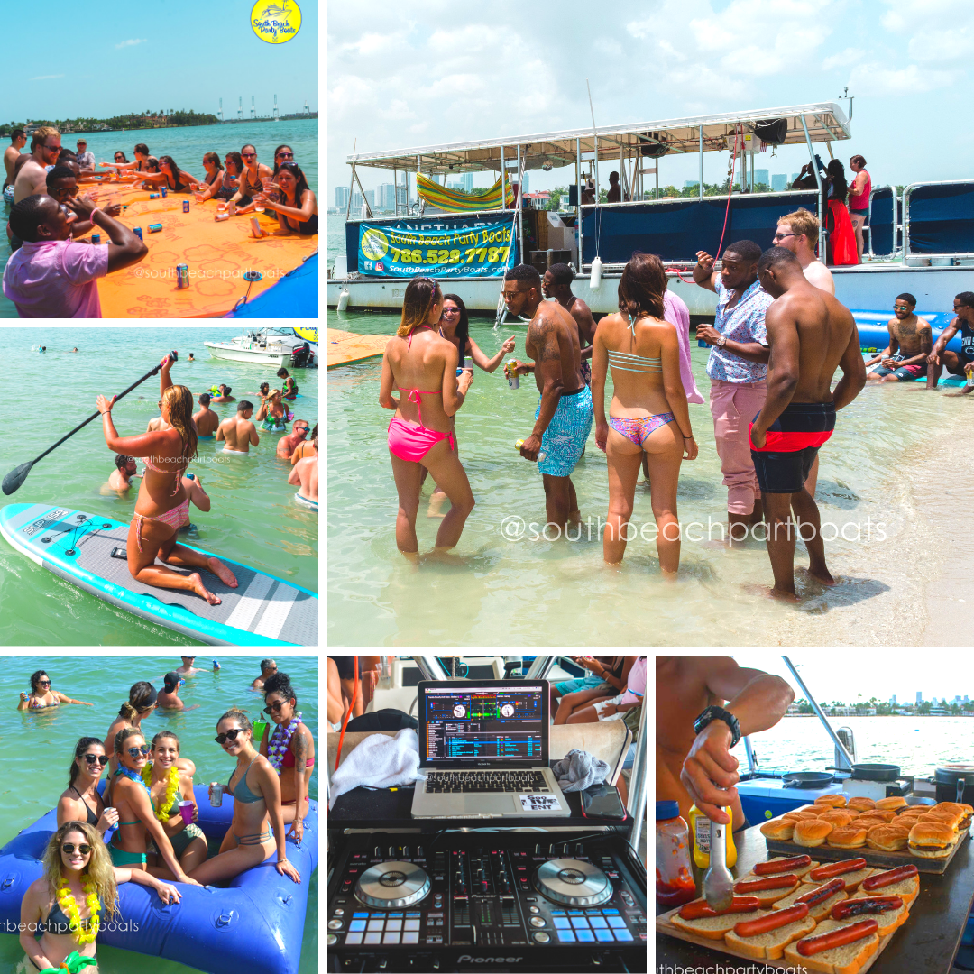 miami party boat florida things to do water excursion tour