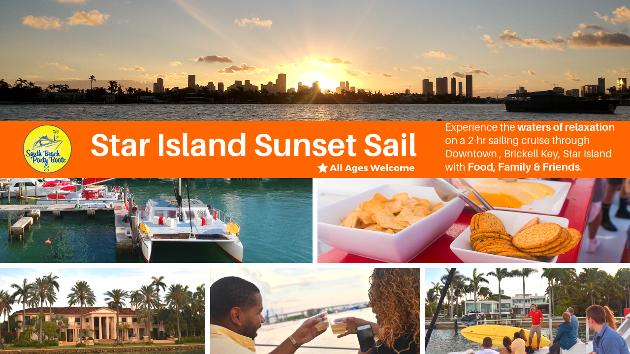 star island sunset cruise south beach party boat tours