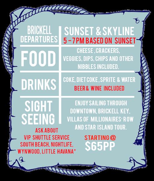 Booze Cruise Star Island Sunset Sail in Miami
